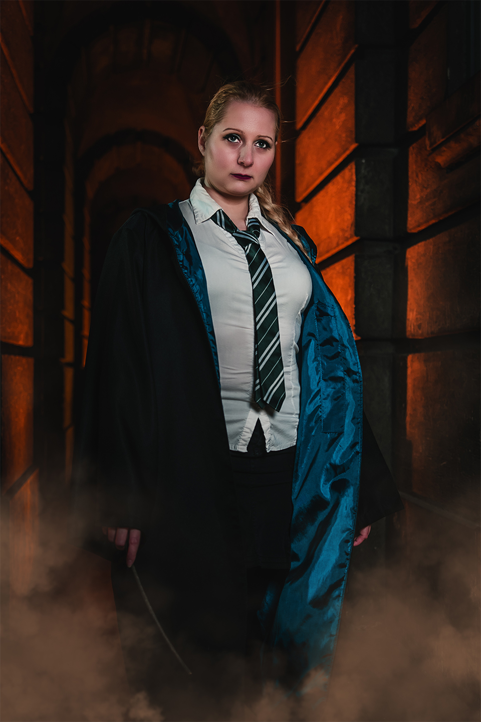 Cosplay, Harry Potter, Night, Slytherin